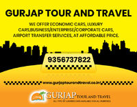 Gurjap Tour and Travel offers a hassle-free, comfortable and affordable taxi service in Chandigarh, kharar & nearby your location to travel within city or outstation across India. India's trusted car rental service, AC cabs, advance booking, low...