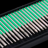 30 pcs Diamond Burs Bits Set Power Rotary Tools,Craft Hobby, Jewelers,Home Tool $16.90