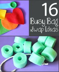 DIY busy bag ideas for toddlers and preschoolers.