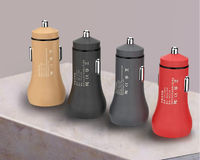 GS-C0061 5V 2.4A Metal Dual USB Mobile Phone Tablet Car Charger With LED Light