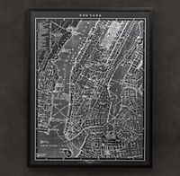 1900s Lithograph Map of New York $1195 (usd) - Nice for my home