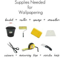 Hanging wallpaper is not the most fun DIY activity. In fact, it is probably on the bottom of the list of things I enjoy DIY'ing. Growing up, I remember watching