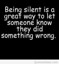 Being silent quote message