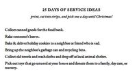 25 Days of Service Ideas (lots of ideas tailored for little kids!)