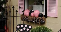 Qualified Love: The light fixture, the awning, fence, flower box, and chairs. But I would change the pink to white. Not a pink fan. So cute.