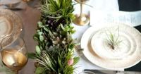 REVEL: Black, Gold & Green Tablescape