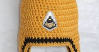 Purdue Football Inspired Crochet Baby Hat With 2 Pom by CDBStudio