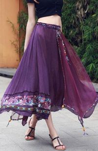 Love Love LOVE this Bohemian Style Skirt! In Purple or Wine! Love them both�€�