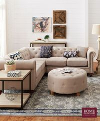 Not your average sectional, this Chesterfield-style piece has ample seating and beautiful details. Button tufts around the back cushions and bottom edge add a stylish touch. It's finished with hand-applied nailhead trim. You'll love this look. Giv...