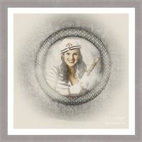Sailing Framed Artwork | Attractive young boating pin-up woman smiling through maritime porthole holding brass telescope when on a seaside expedition adventure. Nautical shipping concept | Jorgo Photography #sailingart #pinup #sailorgirl #retrodecor #beac...