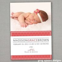 Custom Photo Baby Announcement by greysquare on Etsy. $12.00, via Etsy.
