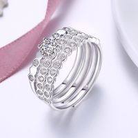 925 Sterling Silver Unique Casual Rings Multi Swarovski Elements Rings $55.98