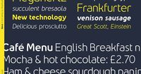 The Nevo font family from Meat Studio comes in 14 styles. All styles offer a contemporary look and feel.
