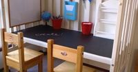 How-To: Crib to Desk Upcycle