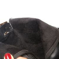 Black Elegant Party Leather Plush Mid Heel Women Boots,NEW,on Sale! More Info;https://cheapsalemarket.com/product/black-elegant-party-leather-plush-mid-heel-women-boots/