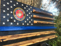 19x36 Marine thin blue line $110.00