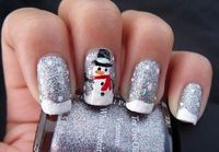 Snowman nails! Great for the winter.