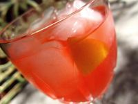 This drink is a favorite among our guests when we throw cocktail parties! Sometimes I serve with a lemon slice and a maraschino cherry.