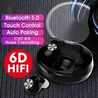 [True Wireless] Mini bluetooth 5.0 TWS Earbuds Dual Noise Cancelling Touch Control Waterproof Earphone Headphone With Mic