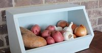 Easy DIY Root Vegetable Storage Bin - Free Plans + Tutorial - Rogue Engineer on