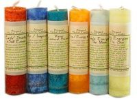 Blessed Herbal Spell Candles - pagan wiccan witchcraft magick ritual supplies