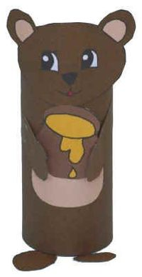 Create a bear out of a toilet paper roll and let the children use them as puppets.