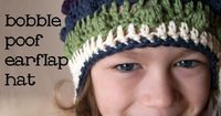 Crocheted Hats to Keep You Warm This Winter , Bobble Poof Crochet Earflap Hat