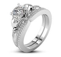 Museum 2CT Round Cut Russian Lab Diamond Bridal Set Wedding Band Ring $310.00