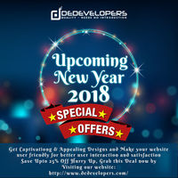Our Upcoming New year Sale is On Now! So what are you waiting for?  DeDevelopers is Best Option for you Save Up to 25% off on your First Project on our entire Services! We are just one click away from you  Just Visit our Website: http://www.dedevelo...