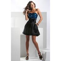 Black Multi Hannah S 27584 - Sequin Dress - Customize Your Prom Dress