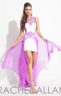 Rachel Allan 2874 High Low Lace Prom Dresses 2015 For Sale