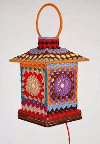 This cute little granny square lamp was one of the homeware design items from fashion designer Moschino