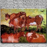 Reproduction Hand Painted Oil Painting Cows By Vincent van Gogh