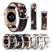 Floral Print Leather Strap for Apple Watch 42mm/38mm 40mm 44mm $19.99