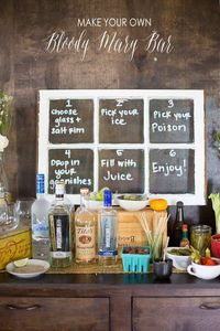 A fun idea for your next holiday gathering or brunch - create a make your own bloody mary bar!