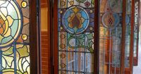 Stained Glass ~ beautiful doors.