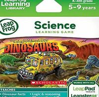 LeapFrog Explorer Game: Magic School Bus Dinosaurs (for LeapPad and Leapster) No description (Barcode EAN = 0708431391345). http://www.comparestoreprices.co.uk/science-and-discovery-toys/leapfrog-explorer-game-magic-school-bus-dinosaurs-fo...