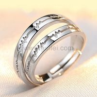 Names Engraved Heartbeat Soulmates Silver Adjustable Rings Set https://www.gullei.com/names-engraved-heartbeat-soulmates-silver-adjustable-rings-set.html