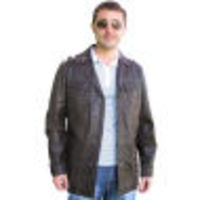 A W Rust BROWN LEATHER JACKET by OFFSET `AFARI 200` High fashion, high design - trendy leather safari jacket by Offset LEATHER: Top grade lightweight aniline dyed nappa leather HANDLE OR SOFTNESS: Very soft FIT: Slim fashion fit POCKETS: Two main p http:/...