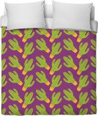 Potted Cactus Duvet Cover $120.00