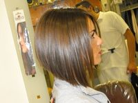 angled bob... I have been wanting to do this just above my shoulders for awhile now! I used to have it this short, but I haven't done it in a couple of years... I think it's time to do it again!! My hair is too long! Need something sassy :)