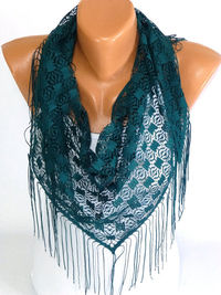 FREE SHIPPING, Tulle Scarf, Scarf, Shawl, Tulle Shawl, Fringed Scarf, Triangle Cut Shawl, Womens Fashion Accessories, Gifts for christmas $15.00