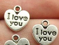 20 x Silver ' I LOVE YOU ' Heart Charms. 12mm x 11mm x 1mm. Valentine's Day Pendants. Romantic Arts, Crafts, Jewellery Making & Accessories £3.69