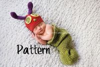 Crochet Pattern Caterpillar Hat and Cocoon Crochet by PunteBella, $5.00