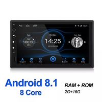 7Inch 1DIN for Android 8.1 Car MP5 Player 2+16G GPS Navigation Stereo Radio WIFI bluetooth Rear Carema