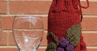 Wine bottle cozy. I made just the leaves with another flower pattern and now have a super cute blanket embellishment