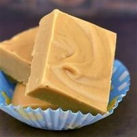 2 Ingredient Peanut Butter Fudge: 1 lb. white almond bark, 18 oz jar peanut butter. Melt bark, stir until creamy. Add peanut butter and stir until thoroughly combined. Spread in an 8x8 pan that has been sprayed with cooking spray. Refrigerate for 1 to 2 h...