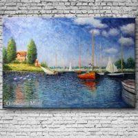 Hand Painted Reproduction Oil Painting Argenteuil By Monet