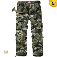 Casual Pants | Men Multi-Pocket Camouflage Cargo Pants CW109003 | CWMALLS.COM