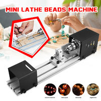 Mini Lathe Beads Machine Beading Machine Mini DIY Woodworking Lathe Miniature Pearl Lathe Grinding Polishing Beads Small Cutting Tool